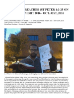 duclairon preaches 1st peter 1 3-25 on halloween night 2016 - oct  31st 20160