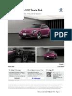 Nuevo Beetle 2017 Beetle Pink