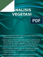 7. Analisis Vegetasi