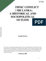 The Ethnic Conflict in Sri Lanka- A Historical and Sociopolitical Outline - Sasanka Perera