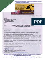 Carta a Dpto. Jurídico Municipalidad de Guatemala;  No Entorpecer 6ta Marcha. 10 Feb 2016.