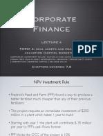 Corporate Finance Lecture 4