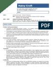 PhD Student CV for Rolls Royce