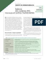 Conceptos Básicos de Hidratación Cutánea (IV)