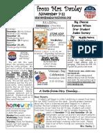newsletter november 7-11
