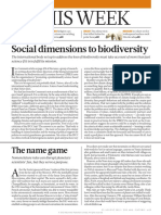 Block 3 (Biodiversity) Editorial on Turnhout Et Al. 2012