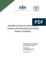 Informe Practica Profesional Minas El Romeral Cristian Briceño Ibarra PDF