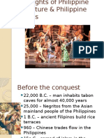 Highlights of Philippine Literature & Philippine Events