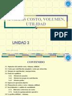 Unidad 03 - Análisis, Costo Volumen y Utilidad