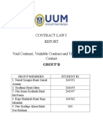Void, voidable and enforceable contracts by SYAFINAZ IDRUS