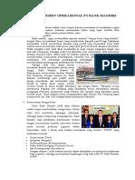 Kajian Manajemen Operasional Pt Bank Mandiri