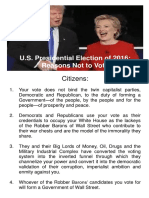 U.S. Presidential Election of 2016 Reasons Not to Vote.pdf