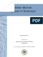 Army Water Strategy 2011