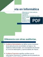 Antecedentes e Importancia Auditoria en Informática