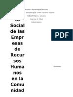 Impacto Social de Las Empresas de Recursos Humanos en La Comunidad