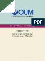 Sbfs1103- Sbfs1103 (Kemahiran Berfikir Dan Penyelesaian Masalah)