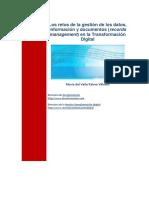Los Retos de La Gestión de Los Datos Información y Documentos en La Transformación Digital