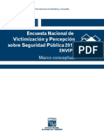 Encuesta Nacional de Victimización. Mexico