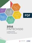 KPMG Fintech Innovators 2016