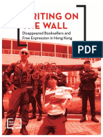 "PEN America, ""Writing on the Wall"" Hong Kong Report"