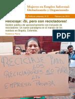 Parra Reciclaje Recicladores WIEGO WP9 Espanol