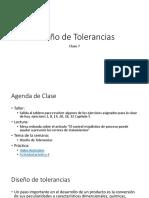 Clase 7. Diseño de Tolerancias
