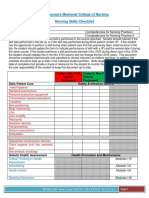 nursing skills checklist kj comp