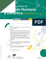 revista nutrición humana y dietetica