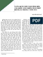 Trận Hải Chiến Của Quân VNCH Chống Quân Trung Quốc Xâm Chiếm Trái Phép Quần Đảo Hoàng Sa Tháng 1-1974 - Nguyễn Hữu Đạo