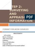 Format of Bibliography Cards