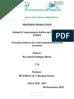 Conceptos Basicos de Control Estadisticos de Los Procesos