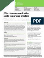 effective communication skills in nursing practice | Empathy