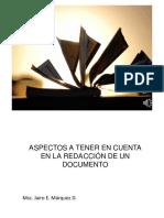 Aspectos a Tener en Cuenta en La Redacción de Un Documento