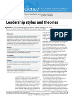 leadership style and theories