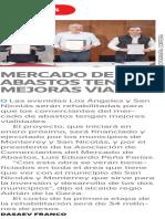 07-11-16 Mercado de abastos tendrá mejoras viales