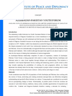 Final Concept Note Azerbaijan Pakistan Youth Forum