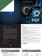 Afterglow Wireless Headset Manual