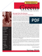 Rutgers Professional Golf Course Turf Management School Spring 2010 Newsletter