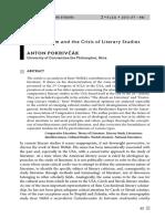Pokrivkak, Anton, Comparatism and the crisis of literary studies