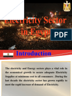 Electricity Sector in Egypt