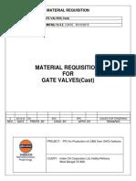 MR for Gate Valve Cast 301015