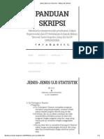 Jenis-jenis Uji Statistik
