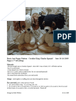 Cavalier King Charles Puppy Pattern
