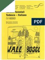 Dizionario Termini Forestali Tedesco-italiano