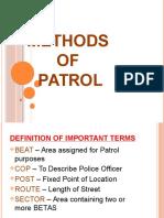 Methods of Patrol