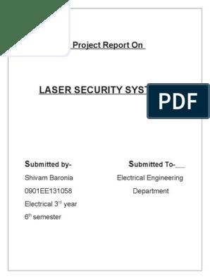 report on laser alarm | Capacitor | Amplifier
