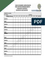 Registro de Calificaciones