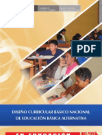 dISEÑO CURRICULAR DE EDUCACION BASICA ALTERNATIVA