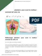 Réfléxologie plantaire