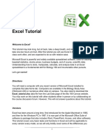 Excel Tutorial Instructions